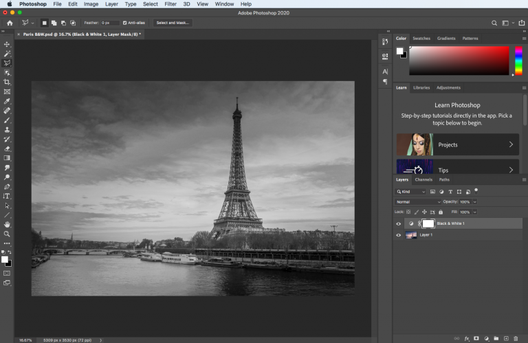 How to Convert a Photo to Black & White in Photoshop